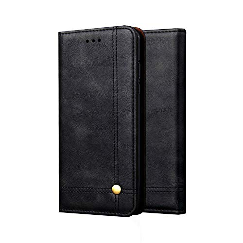Price comparison product image MChoice for Xiaomi PocoPhone F1 Retro Magnetic Flip PU+Leather Wallet Case Stand Cover (Black)