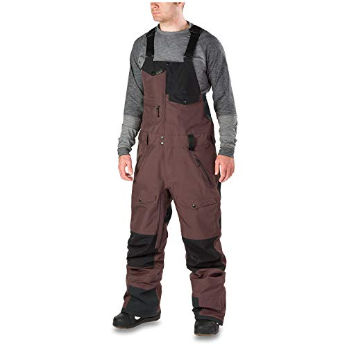 Dakine Men's Stoker Gore-Tex 3L Bib Overalls, Amthyst, Black, L