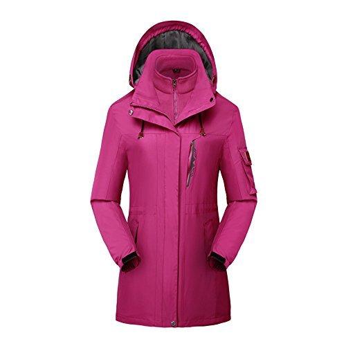 3en 1Esquí para mujer Nieve chamarra al aire última intervensión impermeable invierno cálido chamarra outwear (forro...
