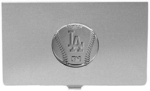 [MLB Los Angeles Dodgers Engraved Business Card Holder] (Brass Plated Card Holder)