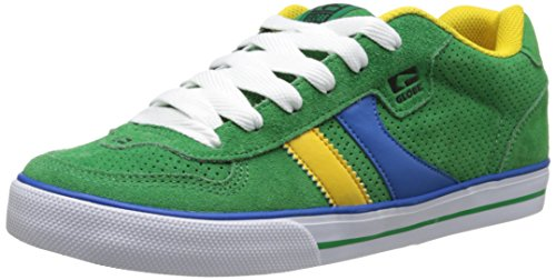 GLOBE Skateboard Shoes ENCORE GREEN/BLUE/GOLD Size 5