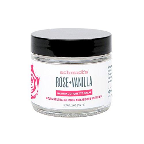 Schmidt's Natural Deodorant - Rose and Vanilla, 2 ounces. Jar for Women and Men by Schmidt's Deodorant