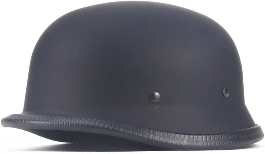 Moto De Estilo Retro Homologado D.O.T Casco Alem/án De La Segunda Guerra Mundial,M Pn/&cc Casco Semicubierto para Motocicleta,Casco Harley De Cara Abierta