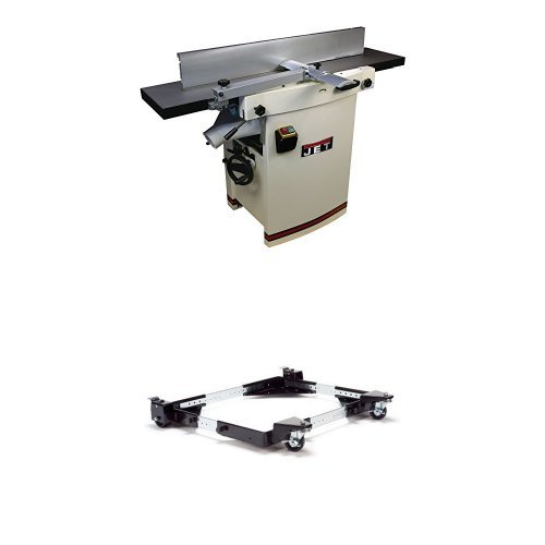 JET 708476 Model JJP-12HH 12-Inch Planer/Jointer with Helical Cutterhead with JMB-UMB Universal Mobile Base
