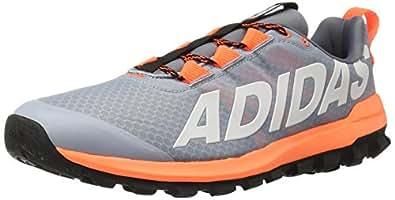 adidas Performance Men's Vigor 6 TR M Running Shoe,Light Grey/White/Solar Orange,6.5 M US