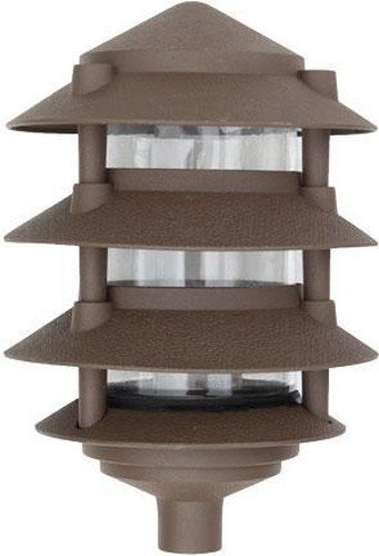Dabmar Lighting D5100-BZ Pagoda Fixture 4 Tier Incand 120V Light, Bronze Finish