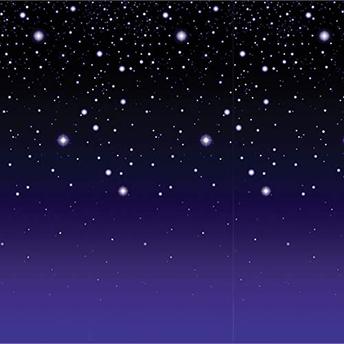Beistle Beautiful Starry Night Backdrop Halooween Theme Party Wall Decoration -
