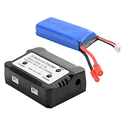 XCSOURCE 7.4V 2000mAh 25C Lipo Battery + 2 in 1 Battery Balance Charger For Syma X8C X8W X8G Quadcopter BC586