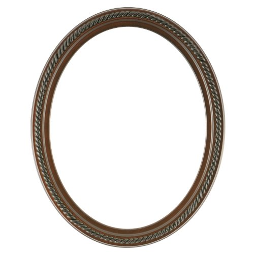 Oval Beveled Wall Mirror for Home Decor – Santa Fe Style – Rosewood – 20×26 outside dimensions