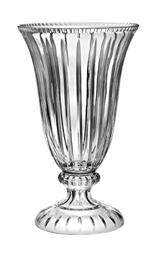 Barski - Hand Cut - Mouth Blown - Centerpiece - Large Footed Vase - 18