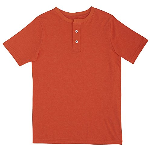 French Toast Boys Henley, Orange Mandarin
