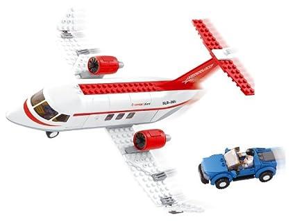 Sluban Private Jet Plane Building Toy Set, Multi Colour