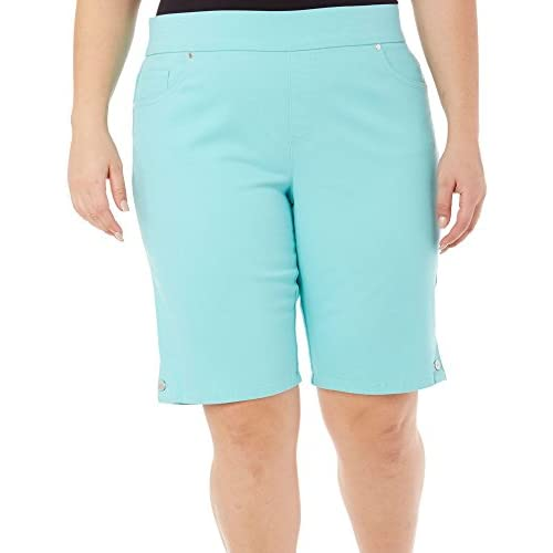 4f47e53537545 Gloria Vanderbilt Women s Plus-Size Avery Denim Pull-On Skimmer Short outlet