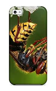 New Style Tpu 5c Protective Case Cover/ Iphone Case - Macro Shot Of A Bee