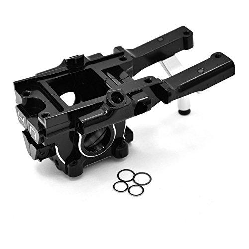 Hot Racing Vxs12X01 CNC Aluminum Secure Lock Front Bulkhead, Black, for Traxxas 1/16 Scale E-Revo, Summit A