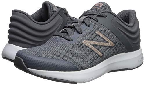 New Balance Women's Ralaxa V1 CUSH + Walking Shoe, LeadChampagne MetallicGunmetal, 5 B US