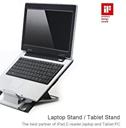 Minicute Adjustable/Portable Laptop Stand, Red Dot Design Award Winner, The Best Partner of iPad,E-reader,Laptop and Tablet PC