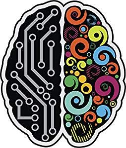 - Magnet Cool Simple Left Right Brain Cartoon Emoji (4