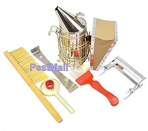 Beekeeping Tools Kit -6 Pcs. -Bee Hive Smoker, Beekeeping Accessory -Bee Keeping Tool- Eco-keeper