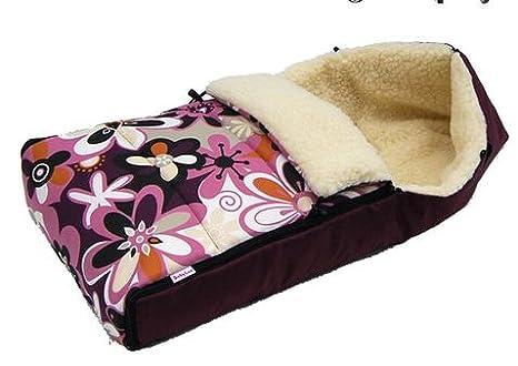 BABYLUX saco de lana de cordero 90 cm - saco de abrigo de invierno para cochecito de bebé ...