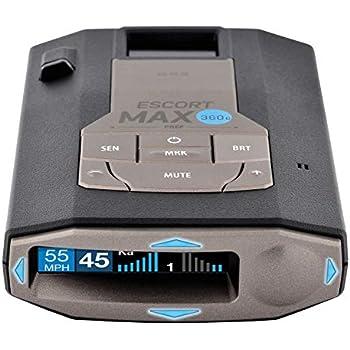 ESCORT MAX360C - WiFi Enabled, Laser Radar Detector, 360° Protection, Extreme Long-Range, Bluetooth, Voice Alerts, OLED Display, Escort Live!