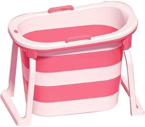 アダルト折りたたみバスタブ子供バスタブプール家庭用浴槽シャワートレイポータブルアダルトバスタブ (Color : Pink)