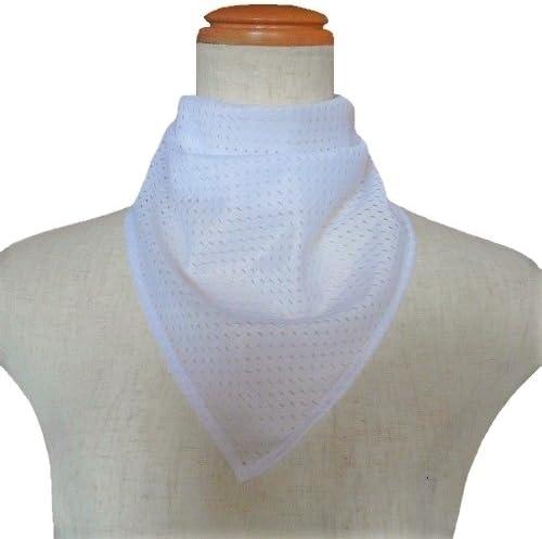 【気管切開や喉頭摘出などの傷隠しに】面テープ バンダナネックカバー:メッシュホワイト