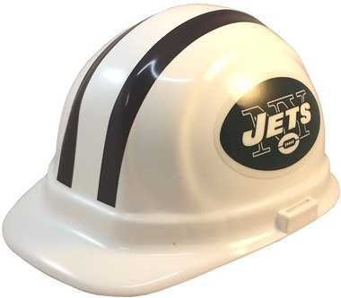 Texas American Safety Company NFL New York Jets Hard Hats with Ratchet Suspension 1