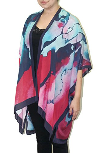 Women's Sweet Dreams Silk Long Kimono Jacket Oversized One Size Plus (Hand Painted Silk Jackets)