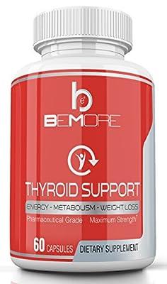 THYROID SUPPORT | Thyroid Health & Adrenal Gland Nutrition to Increase Energy, Boost Metabolism, Lose Weight & Burn Fat with B-12 Schizandra Forskolin Kelp Ashwagandha Iodine Zinc Selenium Molybdenum