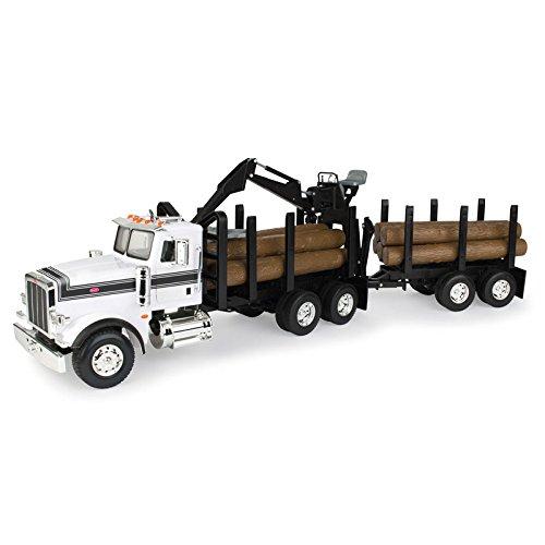 ERTL 46720 1/16 Big Farm Peterbilt Logging Truck with Pup Trailer & Logs, Multicolor from ERTL
