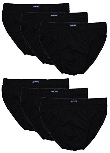 Paia Colore 6 Nero Uomo E Di Cotone Apertura Mutande Classiche 100 Con Da Senza Combinazioni 1wHdq
