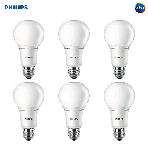 Philips LED 472548 50-100-150 Watt Equivalent 3-Way Frosted A21 Energy Star Certified LED Light Bulb (6 Pack), Soft White, 6 Piece