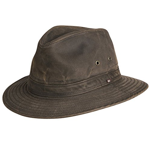 Indy Jones Mens Water Resistant Cotton Hat Brown Medium