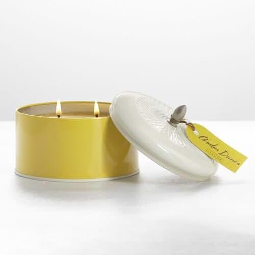 Illume Color Block Knob Tin Candle - Amber Dunes