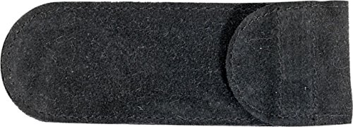 5 Pack Case 5 1/4 inch Large Black Suede Knife Slip Pouches