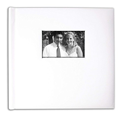 Creat A Memory - Talking Family Photo Album + Voice Recording Scrapbook + Perfect Gift For Anniversaries, Vacations, Weddings, and Alzheimer's Patients + 20 Pages + 12 x 12in + White Leather