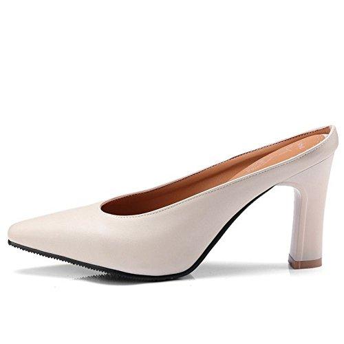 Scarpe Zanpa Closed Toe Beige Donna Mode Mules 8wxST4qU8