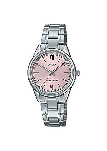 Casio LTP-V005D-4B2 Women's Standard Stainless Steel Pink Dial 3-Hand Analog Watch