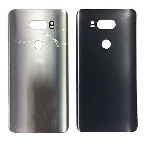 Glass Battery Housing Door Cover Back Case Replacement for L G V30 / V30+ H930 US998 (Silver)