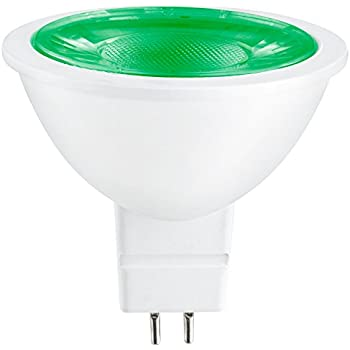 Sunlite 80857-SU LED MR16 Reflector Flood Light Spot Light Bulb, GU5.3 1 Pack Green 1 pack