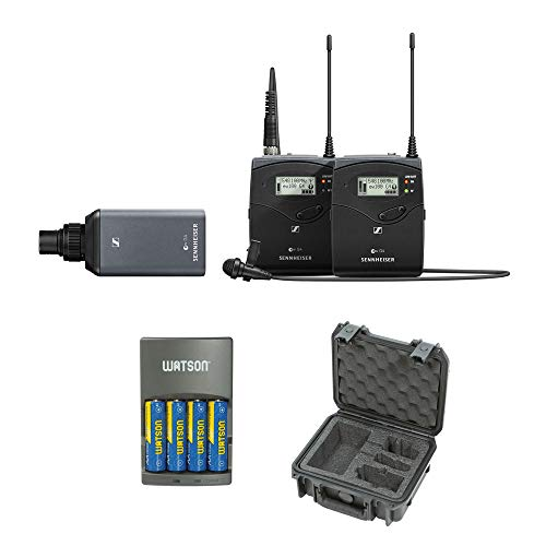 - Sennheiser ew 100 ENG G4 Wireless Microphone Combo System with iSeries System Case & 4-Hour Rapid Charger