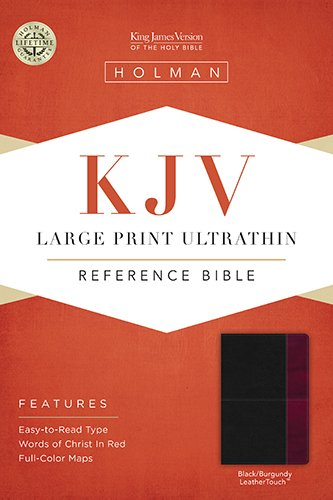 Download KJV Large Print Ultrathin Reference Bible, Black/Burgundy LeatherTouch Indexed ebook