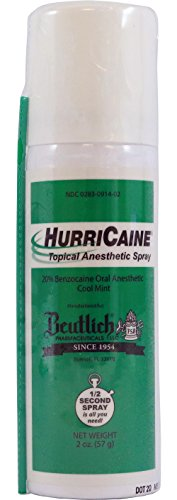 Hurricaine Spray Topical Anesthetic - 2 Ounce - Cool Mint