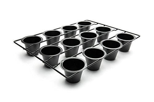 Fox Run 4756 Linking Mini Popover Pan, Carbon Steel, Non-Stick, 12-Cups