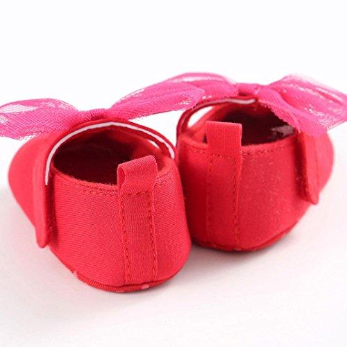 Tefamore primeros pasos bebes zapatos de antideslizante de sole suave de moda invierno de calentar Rosa