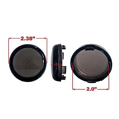 Deuce-Style Dual LED White Amber Running Light Turn Signal Smoke Lens (1157 Bulb, White Amber LED): Automotive