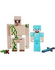 Minecraft GTP30, Craft-A-Block Set met Steve en Iron Golem actiefiguren en speelgoed verzamelobject, cadeau voor kinderen vanaf 6 jaar