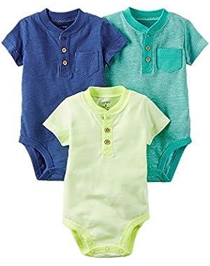 Carter's Baby Boys' 3 Pack Bodysuit Set