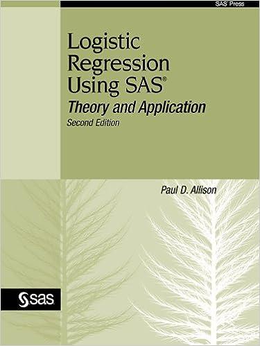 Amazon com: Logistic Regression Using SAS: Theory and